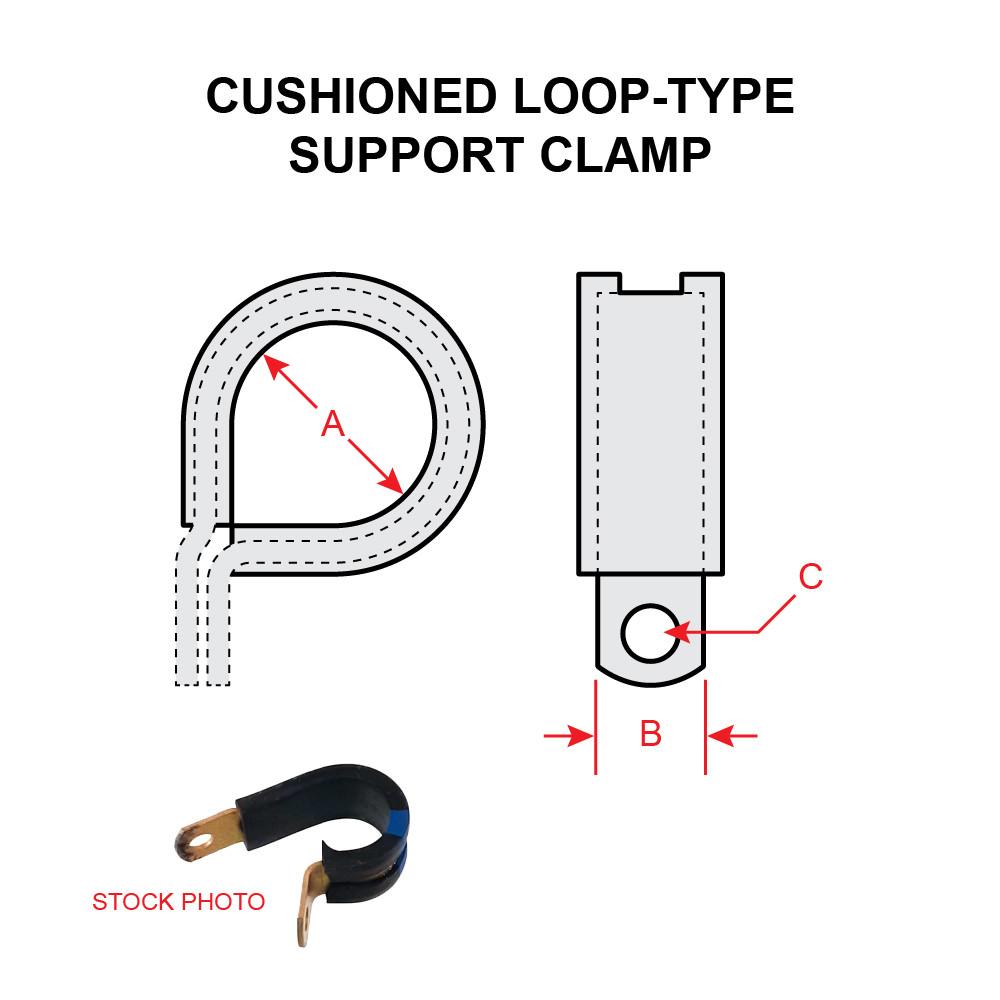 "MS21919WDG15 15//16/"" UMPCO Single Loop Cushioned Clamp 10"