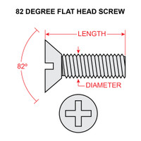 MS35191-235   FLAT HEAD SCREW - NF