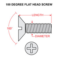 MS24693S48   FLAT HEAD SCREW