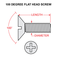 MS24693S52   FLAT HEAD SCREW