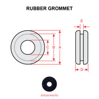 MS35489-134   RUBBER GROMMET