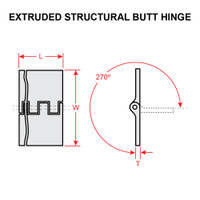 MS20001P5   STRUCTURAL BUTT HINGE - 3 FEET