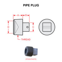 MS20913-2D   PIPE PLUG