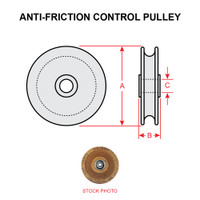 MS24566-5B   ANTI-FRICTION CONTROL PULLEY