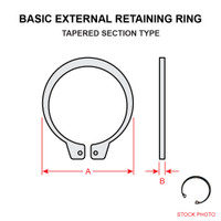 MS16625-2143   BASIC EXTERNAL RETAINING RING