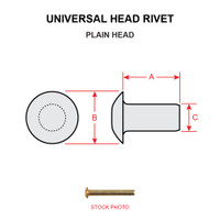 MS20613-4P15   UNIVERSAL HEAD RIVET