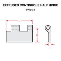 NAS40-3   CONTINUOUS HALF HINGE - 6 FEET