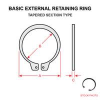 MS16624-1081   BASIC EXTERNAL RETAINING RING