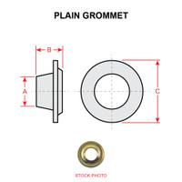 GROMMET-#2   PLAIN GROMMET - BRASS