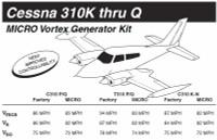 VG5001   MICRO VORTEX GENERATOR KIT - CESSNA 310K-P