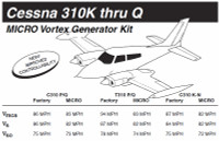 VG5002   MICRO VORTEX GENERATOR KIT - CESSNA 310Q