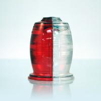 A402A-S   WHELEN RED/WHITE OPTIC LENS
