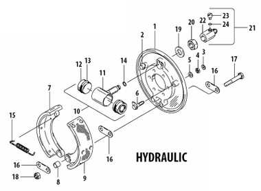 030 00200 Cleveland Hydraulic Brake Assembly Univair