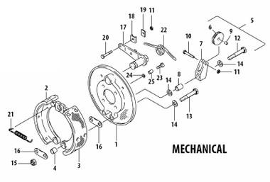C7000 Cleveland Mechanical Brake Assembly Univair