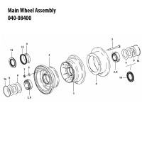 040-08400   CLEVELAND MAIN WHEEL ASSEMBLY