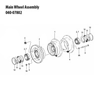 040-07802   CLEVELAND MAIN WHEEL ASSEMBLY