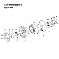 040-01900   CLEVELAND MAIN WHEEL ASSEMBLY
