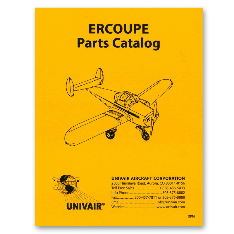 EPM ERCOUPE PARTS MANUAL - Univair Aircraft Corporation