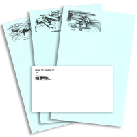 S-MIX   STATIONERY SET - ASSORTED AIRCRAFT