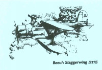 S-D17   STATIONERY SET - BEECH STAGGERWING D17S