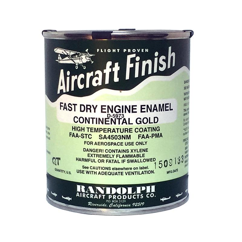 RANDOLPH ENGINE ENAMEL - CONTINENTAL GOLD - Univair Aircraft