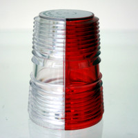 A402-R/W   WHELEN SPLIT OPTIC LENS - RED/WHITE