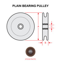 NAS383-2   PLAIN BEARING PULLEY