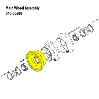 162-00600   CLEVELAND OUTER WHEEL HALF ASSEMBLY