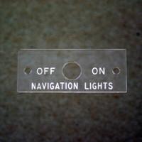 415-51135   ERCOUPE NAVIGATION LIGHT NAMEPLATE
