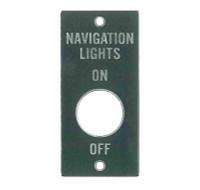 415-51054   ERCOUPE NAVIGATION LIGHTS PLACARD