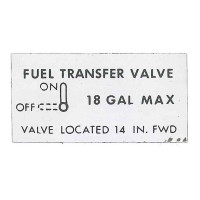 -150059-039   MOONEY FUEL TRANSFER VALVE DECAL