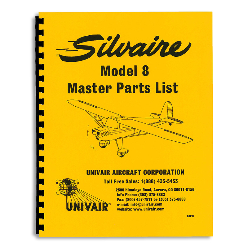 L8PM LUSCOMBE 8 SERIES MASTER PARTS MANUAL - Univair