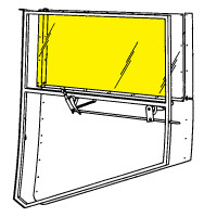 LUSCOMBE STATIONARY DOOR WINDOW