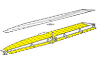 U582036-1   LUSCOMBE BOTTOM AILERON SKIN - RIGHT