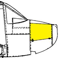 U086085-6   LUSCOMBE SIDE COWL DOOR - RIGHT