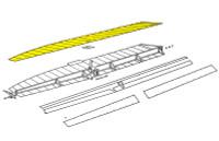 U582035-1   LUSCOMBE TOP AILERON SKIN - RIGHT