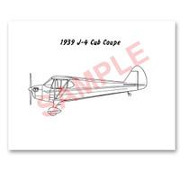 J4PS39   PIPER 1939 J-4 PAINT SCHEME