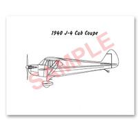 J4PS40   PIPER 1940 J-4 PAINT SCHEME
