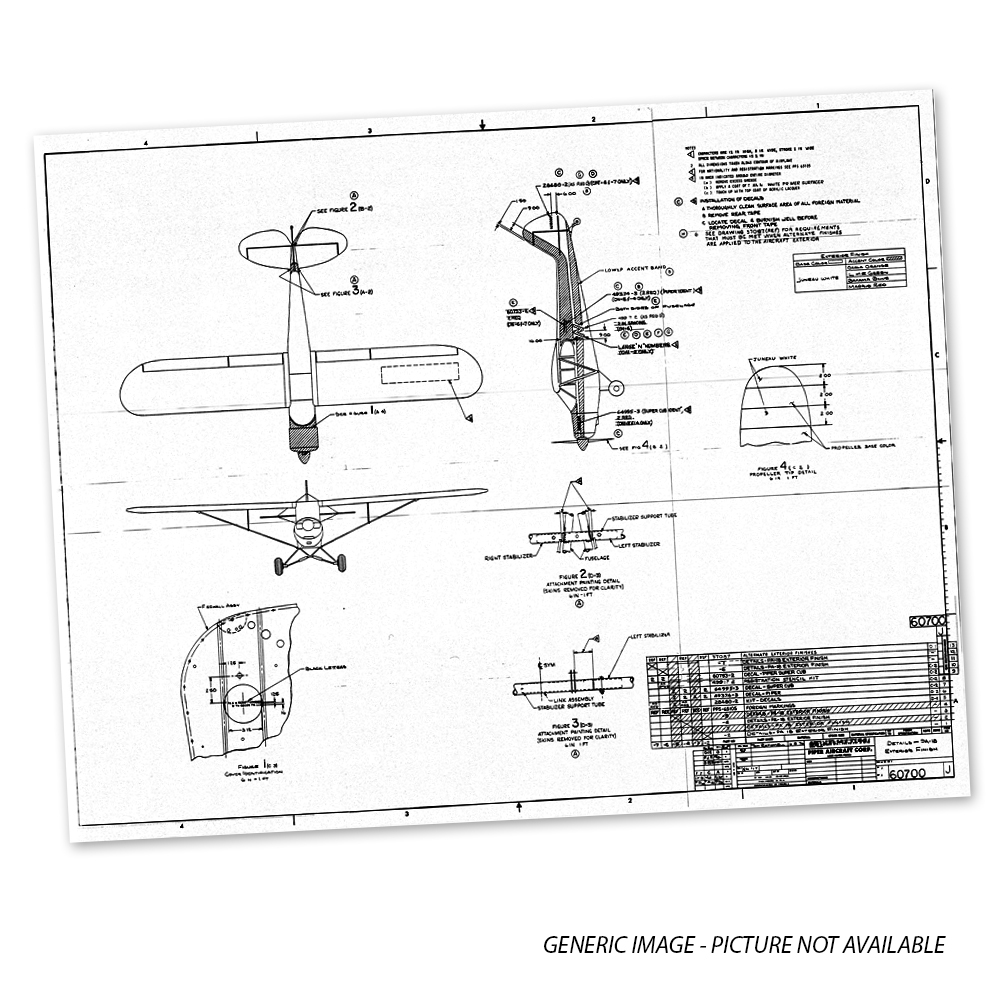 12510DWG PIPER PA-20 FUSELAGE DRAWING - Univair Aircraft