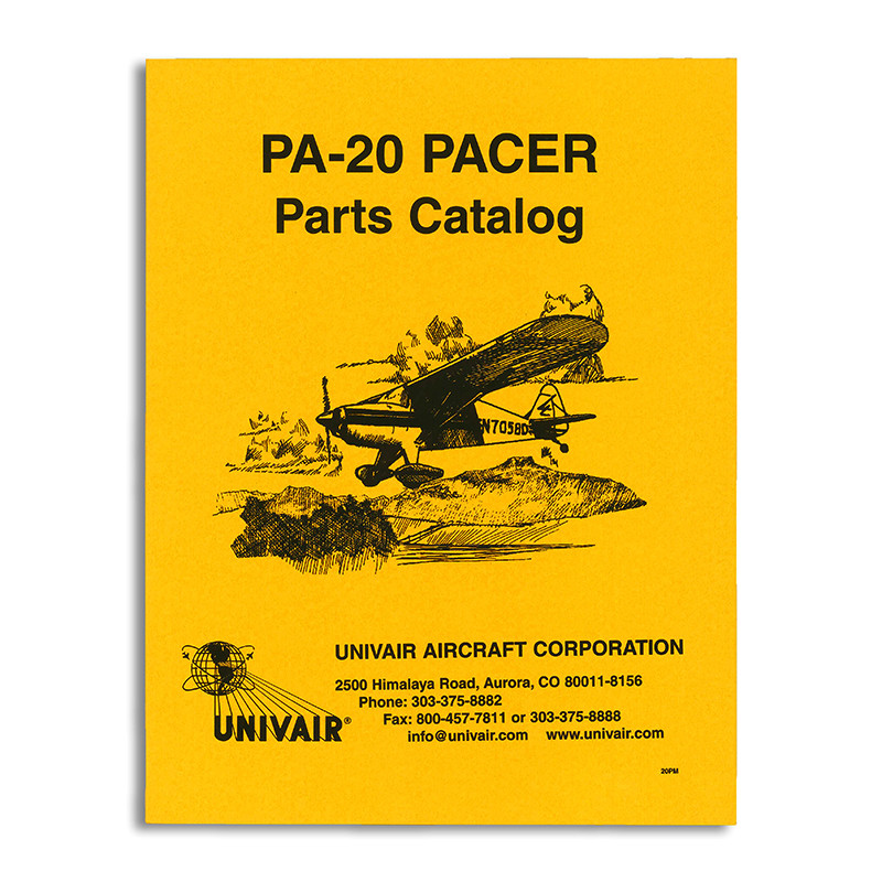 20PM PIPER PA-20 PARTS MANUAL - Univair Aircraft Corporation