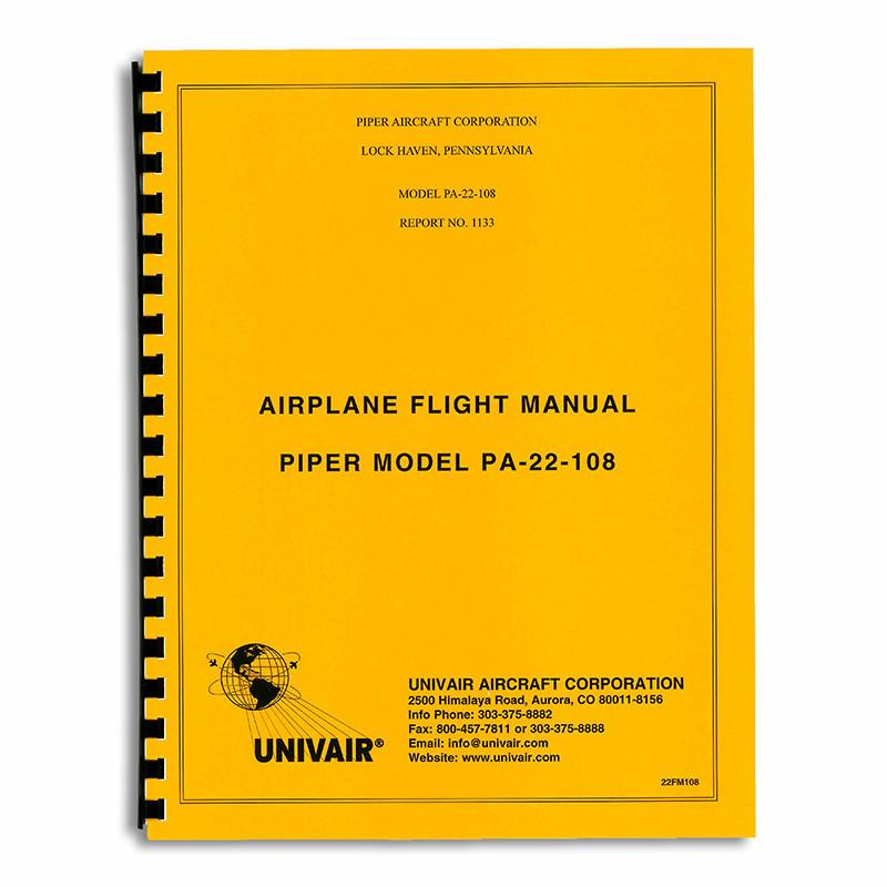22FM108 PIPER PA-22 108HP FLIGHT MANUAL - Univair Aircraft