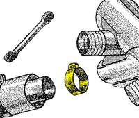 U72691-000   UNIVAIR MUFFLER CLAMP - FITS PIPER