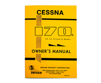 UP213-13   CESSNA 170B OWNERS MANUAL 1952-55