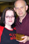 Amanda and Doug Bradley enjoy a little sin.
