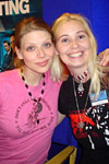 Lisa with Amber Benson from Buffy