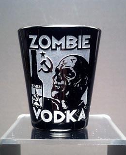 Zombie Vodka black shot glass