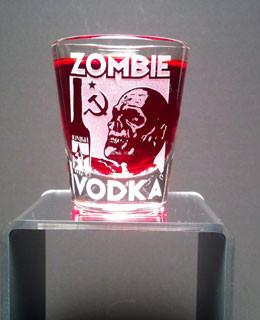 Zombie Vodka clear shot glass