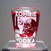 Drink a toast to your undead comrades with this etched shot glass