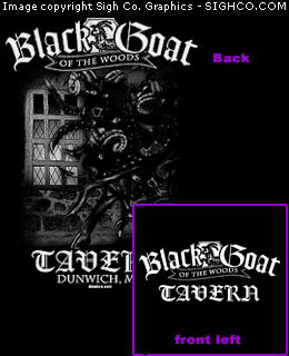 Black Goat of the Woods Tavern Work shirt