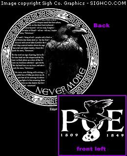 Edgar Allan Poe - Nevermore Work shirt
